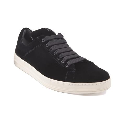 """Men's """"Russel"""" Velvet Sneakers // Black (US: 7)"""