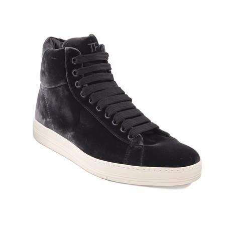 "Men's ""Russel"" Velvet High Top Sneakers // Gray (US: 7.5)"