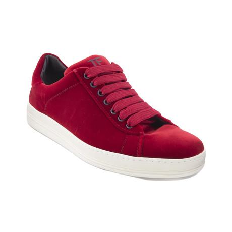 "Men's ""Russel"" Velvet Sneakers // Red (US: 7)"