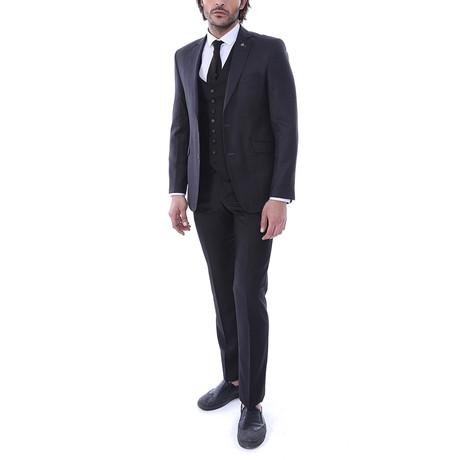 Sanders 3-Piece Slim-Fit Suit // Smoke (Euro: 44)