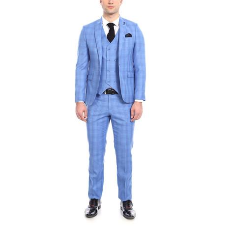Hamilton 3-Piece Slim-Fit Suit // Blue (Euro: 44)
