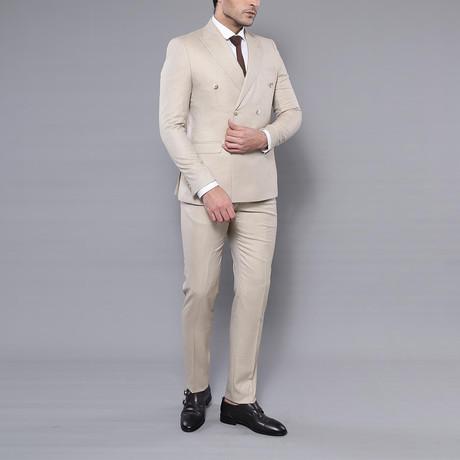 Harold 2-Piece Slim-Fit Suit // Beige (Euro: 44)