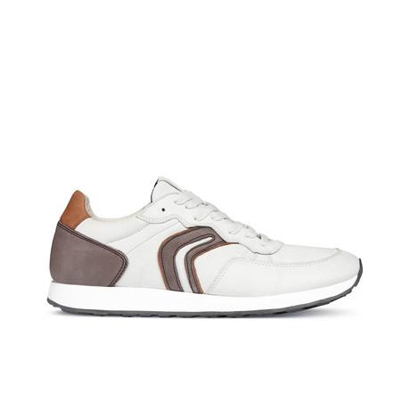 Vincit C Sneaker // White + Dark Coffee (Euro: 39)