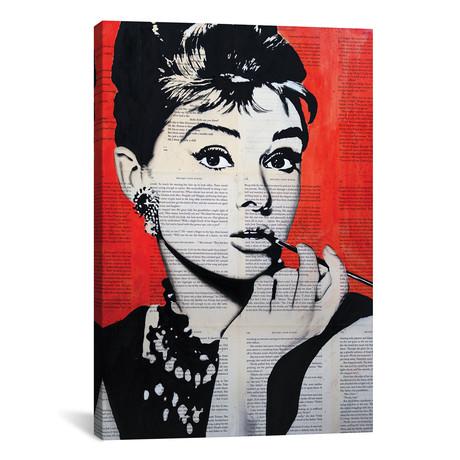 """Audrey Hepburn // Ahmad Shariff (18""""W x 26""""H x 0.75""""D)"""