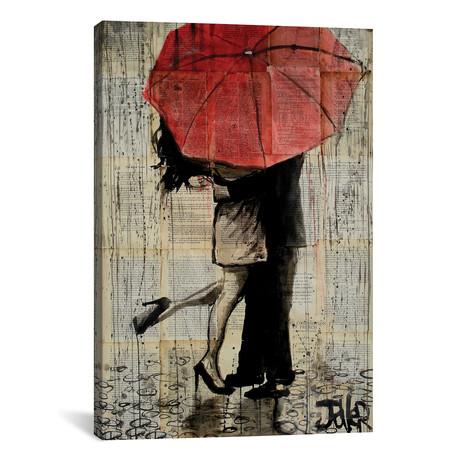 """Red Umbrella // Loui Jover (18""""W x 26""""H x 0.75""""D)"""