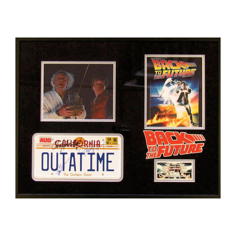Back To The Future License Tag