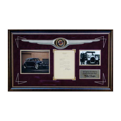 Walter P Chrysler Letter