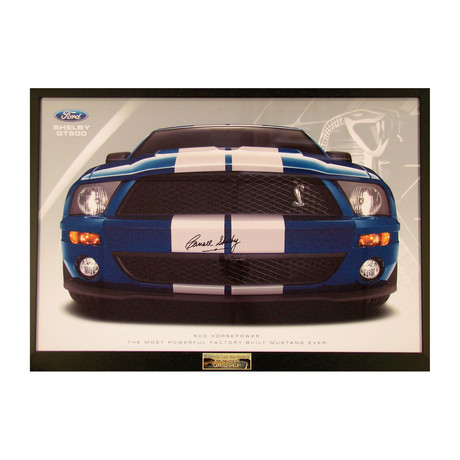 Carroll Shelby Mustang Dealer Poster