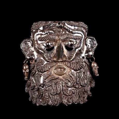 Guerrero Silver Dance Mask // Mexico Ca. 19th-20th Century CE