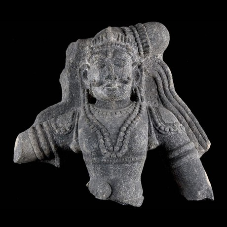 Black Granite Maharaja Torso // India Ca. 18th Century CE