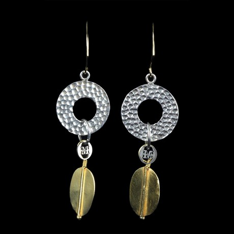 Indian Gold + Silver Earrings
