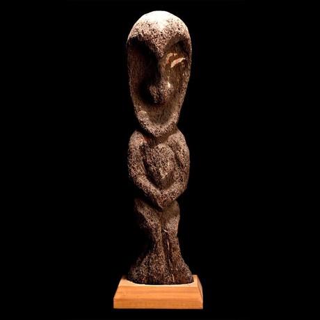 Vanuatu Fernwood Figure // Papua New Guinea Ca. Mid 20th Century CE // Ex Cincinnati Art Museum