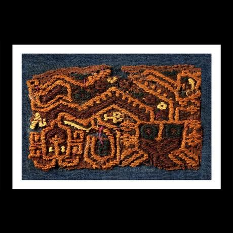 Proto-Nazca Pre-Columbian Textile with Anthropomorphic Figure // Peru Ca. 100 BCE - 200 CE