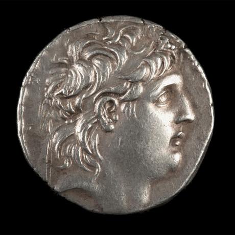 Antiochus VII Euergetes Sidetes Silver Tetradrachm // Seleucid Kingdom Ca.138 to 129 BCE