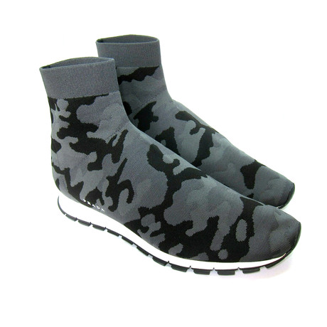 Camouflage Nylon Elastic Boots // Multicolor (US: 7)