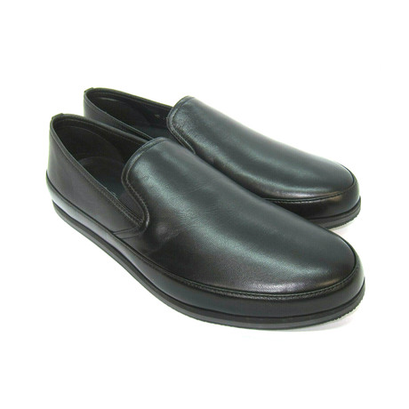 Leather Loafers Shoes // Black (US: 7)