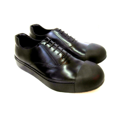 Leather Rubber Tipped Shoes // Black (US: 7)