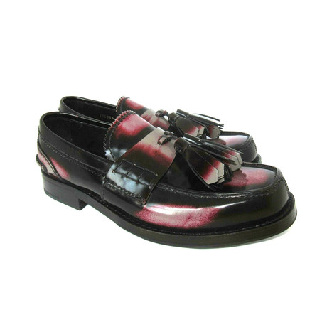 Patent Leather Tassel Loafers Shoes // Black (US: 7)