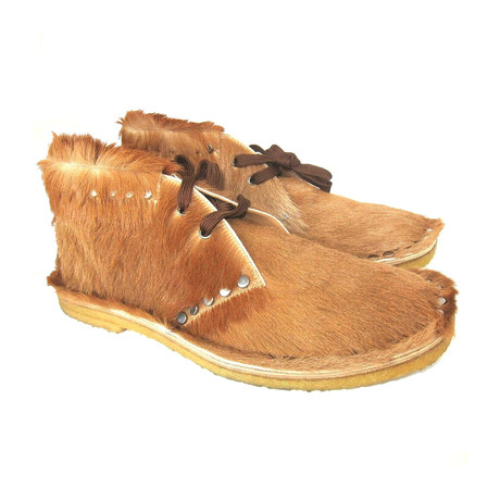 Calf Fur Chukka Shoes // Brown (US: 7)