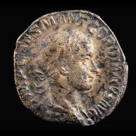 Authentic Roman Emperor Gordian III // Copper Sesterce // Roman Empire Ca. 238 CE - 244 CE