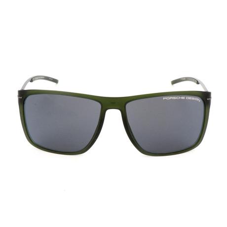 Men's P8636 C Sunglasses // Transparent Green
