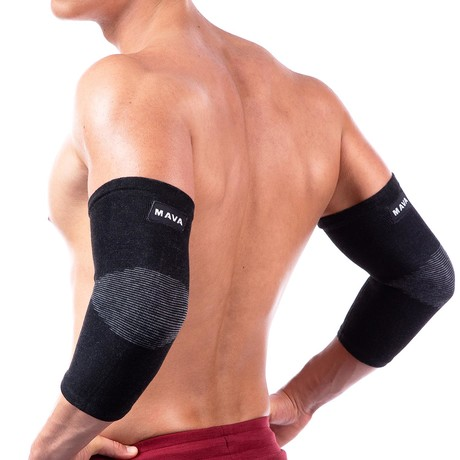 Elbow Brace Compression Sleeves // Black // 2-Pack (S)
