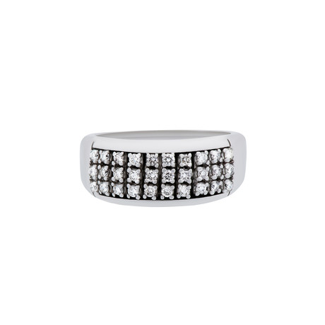 Estate 18k White Gold Diamond Ring // Ring Size: 7.5
