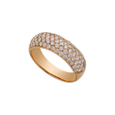 Estate 18k Rose Gold Diamond Ring // Ring Size: 11