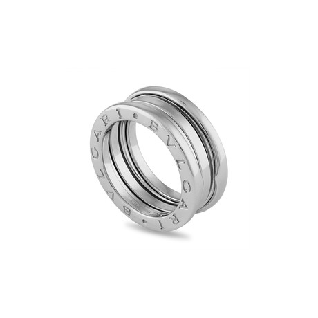Vintage Bulgari 18k White Gold B.Zero1 3 Band Ring // Ring Size: 6