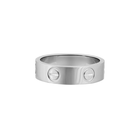 Vintage Cartier 18k White Gold Love Ring // Ring Size: 6.25