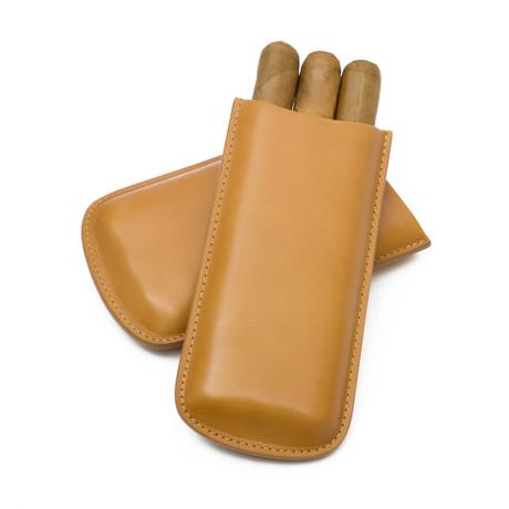 Genuine Smooth Leather // Standard Cigar Case (Natural)