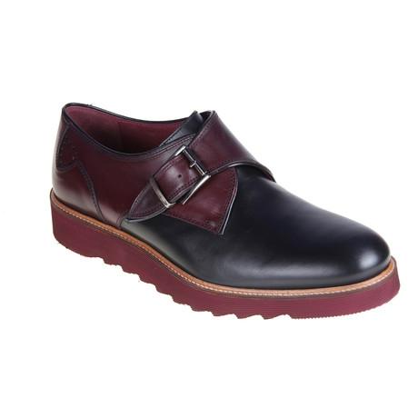 MT2269 // Buckle Shoe // Black + Bordeaux (Euro: 40)