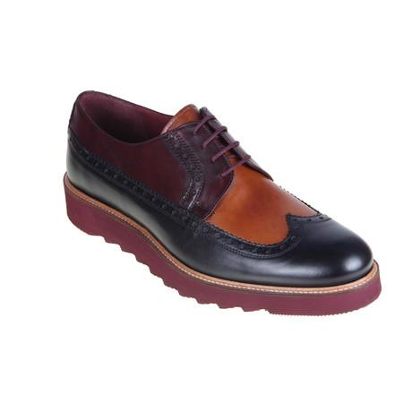 MT2271 // Brogue Shoe // Black + Tan + Bordeaux (Euro: 40)