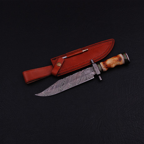 Damascus Bowie Knife // BK0198