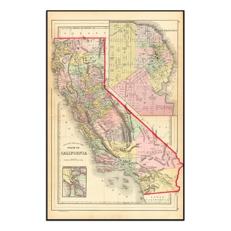 "California 1886 (9""W x 13.75""H)"