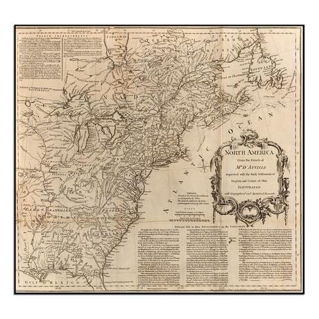 "North America 1755 (12""W x 11.25""H)"