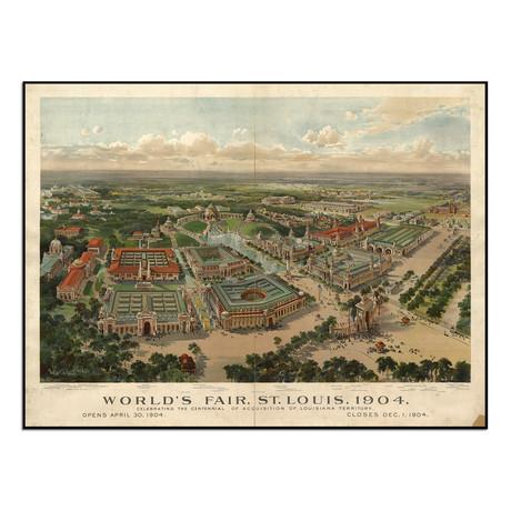"""St. Louis World's Fair, 1904 (13""""W x 9.75""""H)"""