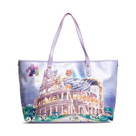 Satin Print Bag // Lavender