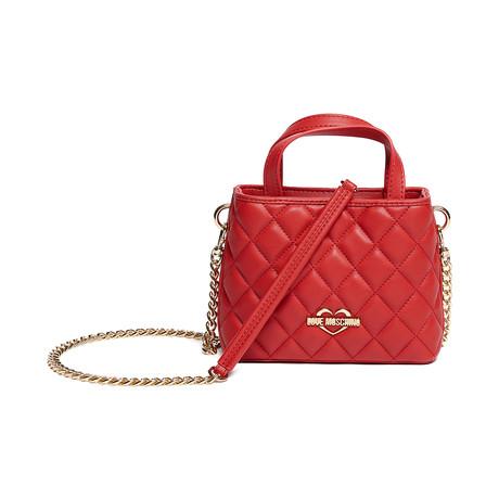 Quilted Leather Shoulder Bag v2 // Gold Strap