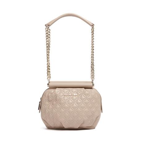 Quilted Leather Shoulder Bag V2 // Dove + Gray