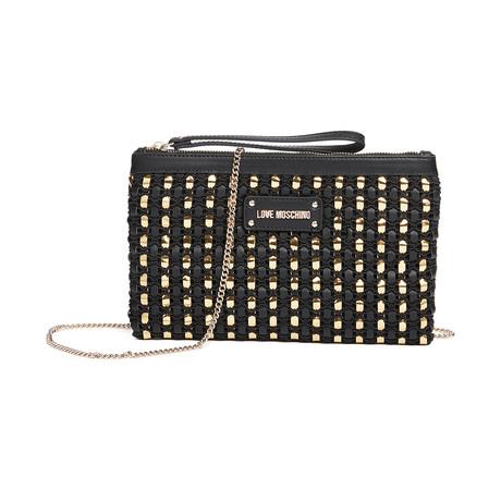 Calf Shoulder Bag V2 // Black + Gold