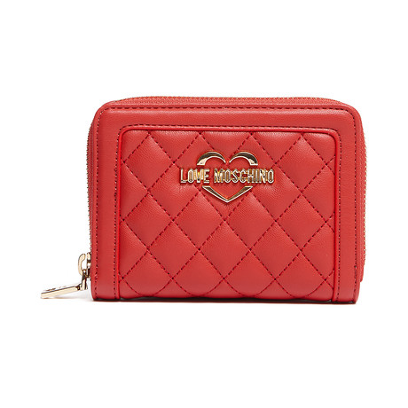 Quilted Leather Wallet V3 // Red