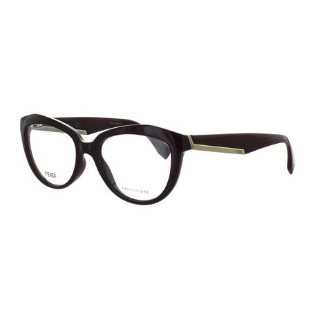 Unisex Cat-Eye Glasses // Opal Burgundy