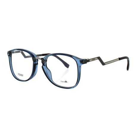 Women's Square Glasses // Transparent Azure