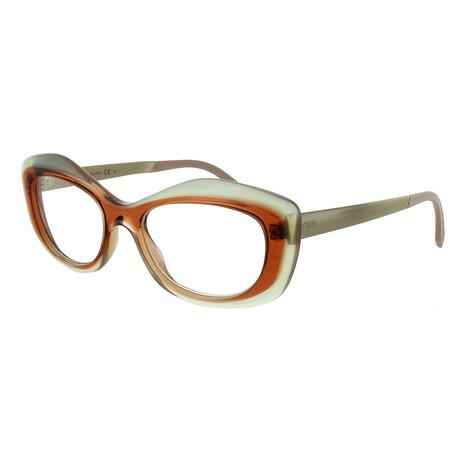 Women's Butterfly Glasses // Lime + Orange