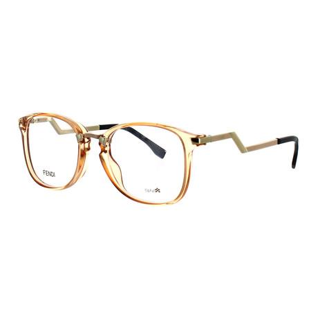 Women's Square Glasses // Transparent Peach