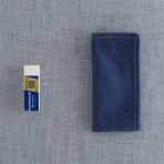 Ancon Pocket Square // Navy + Light Blue