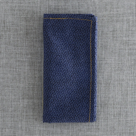 Ancon Pocket Square // Navy + Light Blue