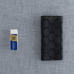 Blem Pocket Square // Black + Grey Circle