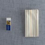Larimer Pocket Square // Orange + Blue + Cream